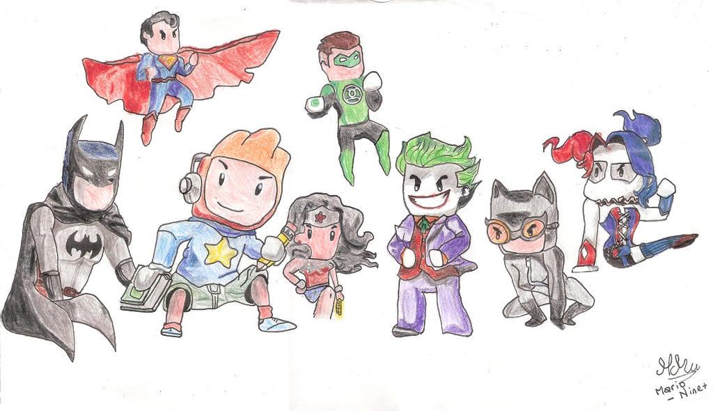 Drawing Scribblenauts : Scribblenauts unmasked by mario padawans on deviantart