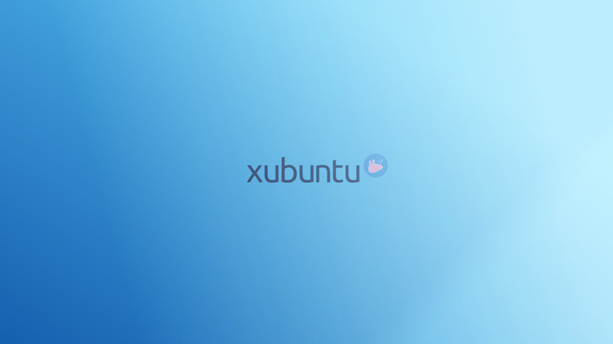 minimal blue xubuntu by LovelyBacon