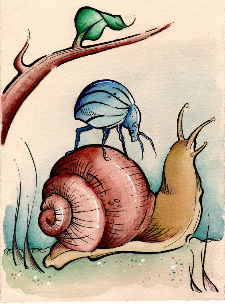 It Rode on the Back of a Snail by PinkBunnie