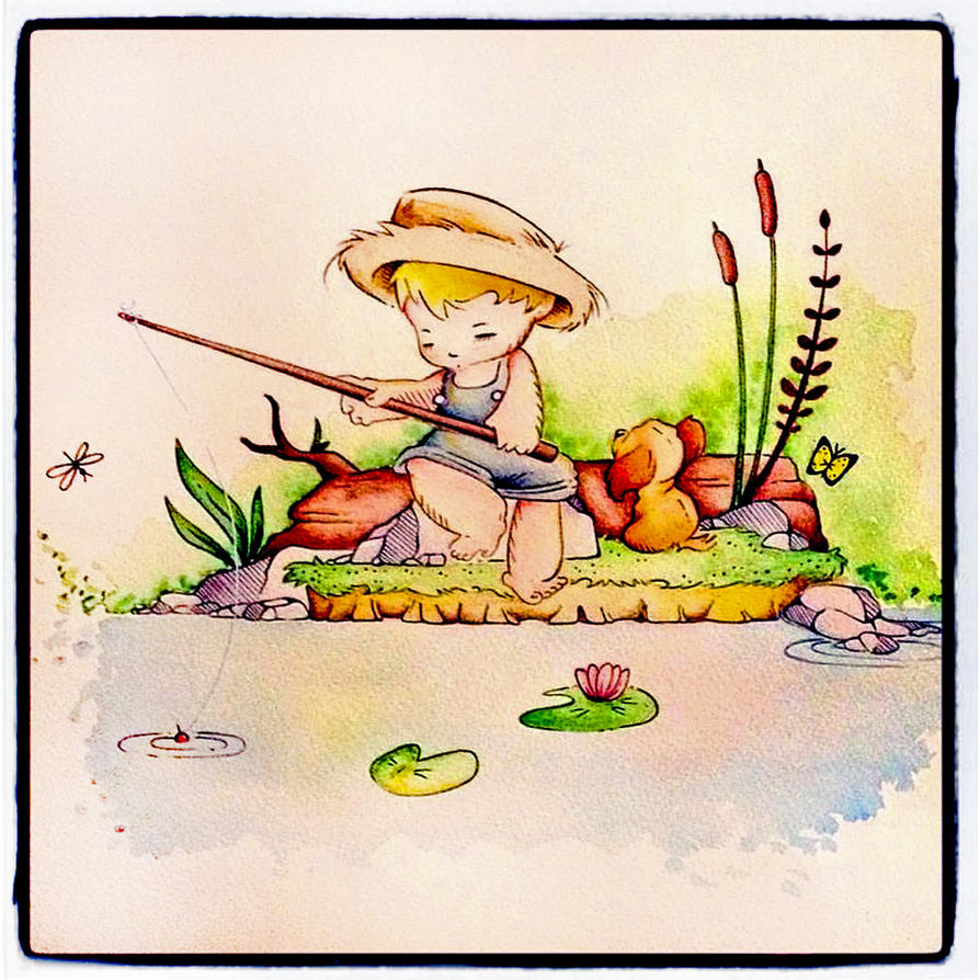 Little Fisherman by PinkBunnie