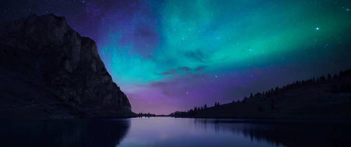 NightFall Lake 3440x1440