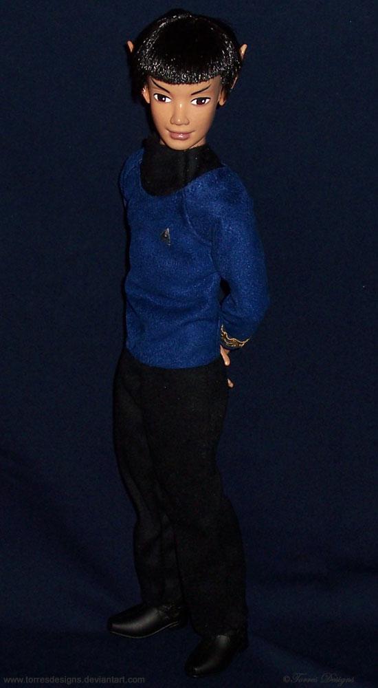 SPOCK Star Trek Custom Outfit Re-root OOAK Doll by TorresDesigns