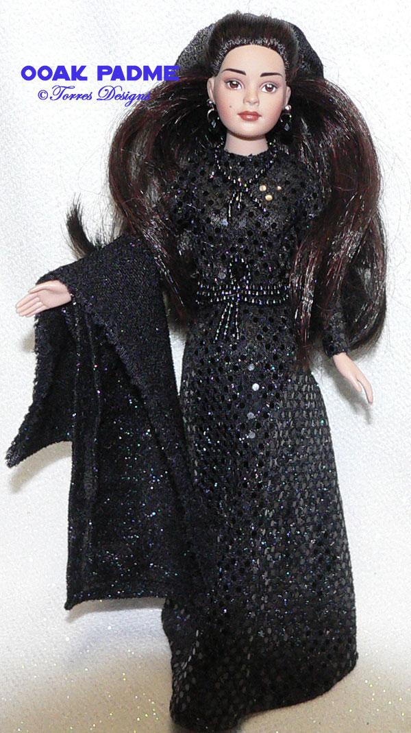 PADME Star Wars Repaint Re-root OOAK Doll n Outfit by TorresDesigns