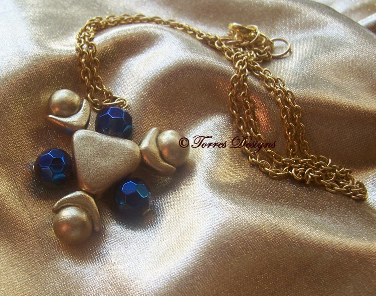 Zora Sapphire Necklace #2 Legend of Zelda OoT OOAK by TorresDesigns