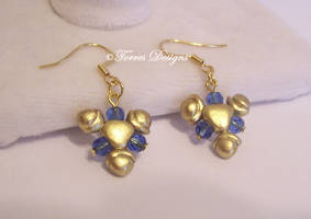 Custom made Zora Sapphire Earrings 14K Gold Zelda by TorresDesigns