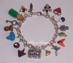 HandScuplted Custom Ocarina of Time Charm Bracelet
