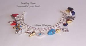 1st Sterling Silver Ocarina of time Bracelet ZELDA by TorresDesigns
