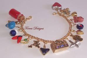 1st Ocarina of Time Charm Bracelet in GT Zelda by TorresDesigns