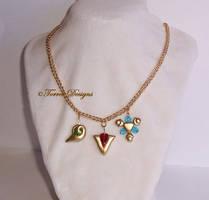 #1 Custom made Spiritual Stones Necklace Zelda OoT by TorresDesigns