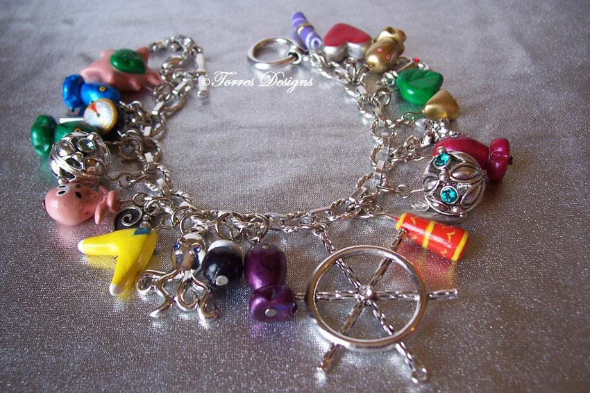 1st Silver Wind Waker Charm Bracelet Zelda OOAK by TorresDesigns
