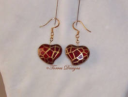 Custom Twilight Princess Heart Container Earrings by TorresDesigns