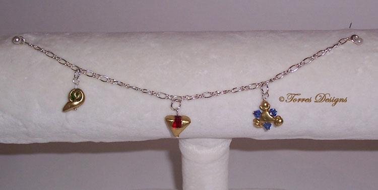 Sterling Silver Spiritual Stones Bracelet OOAK #1 by TorresDesigns