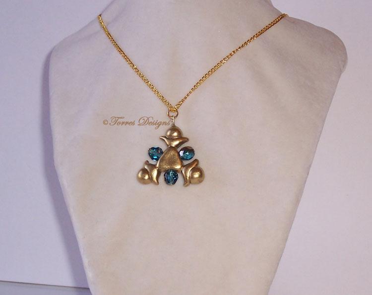 Zora Sapphire Pendant Necklace Zelda Custom OOAK by TorresDesigns