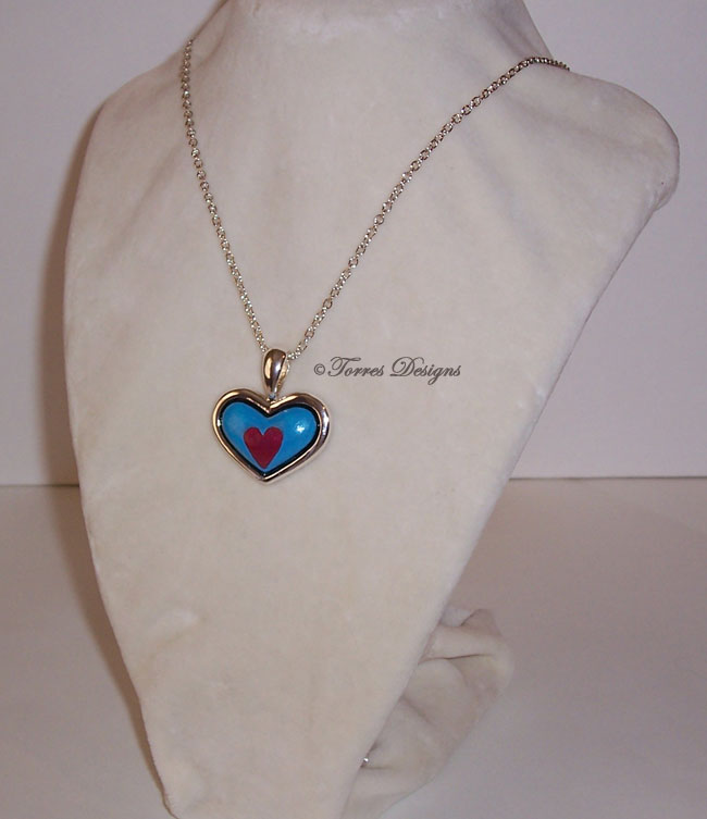 Heart Piece Container Necklace ZELDA Custom #12 by TorresDesigns