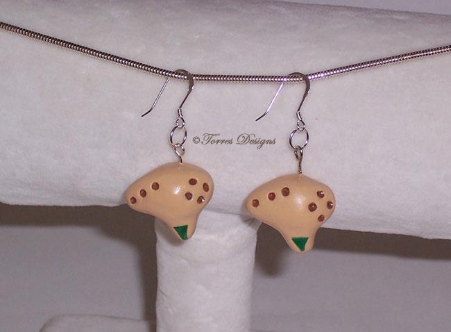 SterlingSilverHooks Fairy Ocarina Earrings Zelda by TorresDesigns