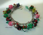 Invader Zim Bracelet Handmade Custom OOAK by TorresDesigns