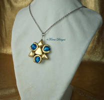 TP LOZ Zora Sapphire Necklace Handsculpted by TorresDesigns