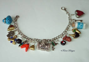 OoT Charm Bracelet LonLonRanch GreenFrog Handmade by TorresDesigns