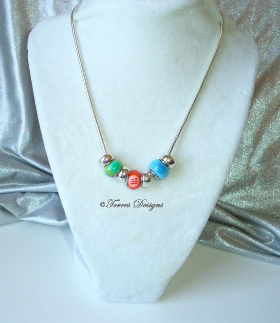 Nayru Farore Din Pearls Necklace Zelda WW Custom 3 by TorresDesigns