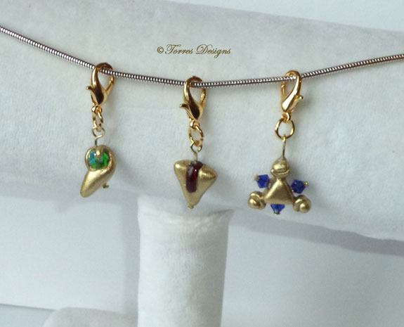 Kokiri Emerald Goron Ruby Zora Sapphire Charms by TorresDesigns
