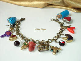 Ocarina of Time Charm Bracelet Antique Gold LOZ by TorresDesigns