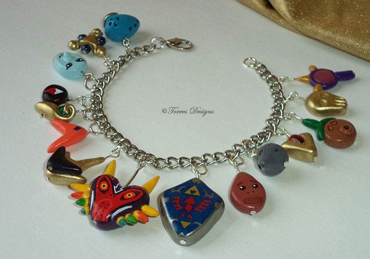 All Custom Charms Majora's Mask OoT Bracelet Zelda by TorresDesigns