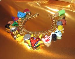 Custom OOAK Majora's Mask Charm Bracelet Sculpted by TorresDesigns