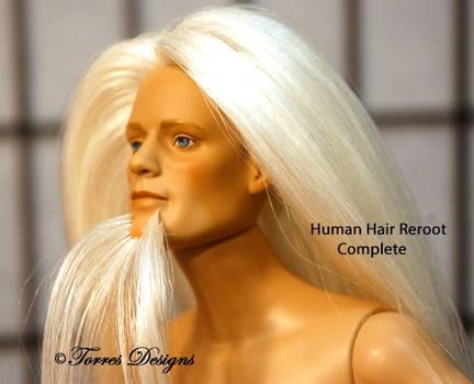 Tonner Doll Matt Human Hair Reroot OOAK Custom