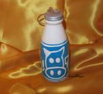 Ceramic Lon Lon Ranch Milk Bottle Ornament OOAK