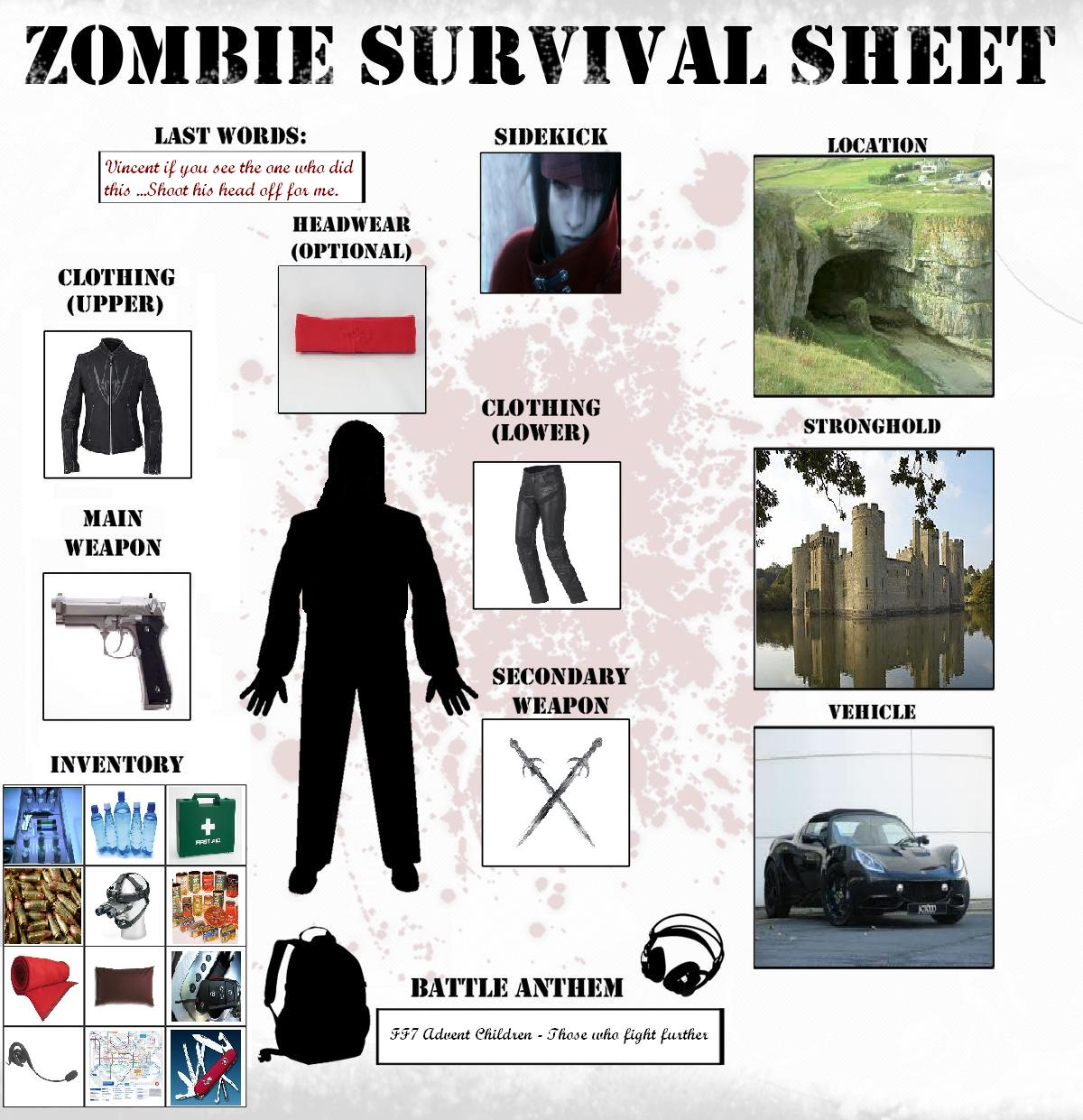 Survival Sheet by DragonprotectorRyuu