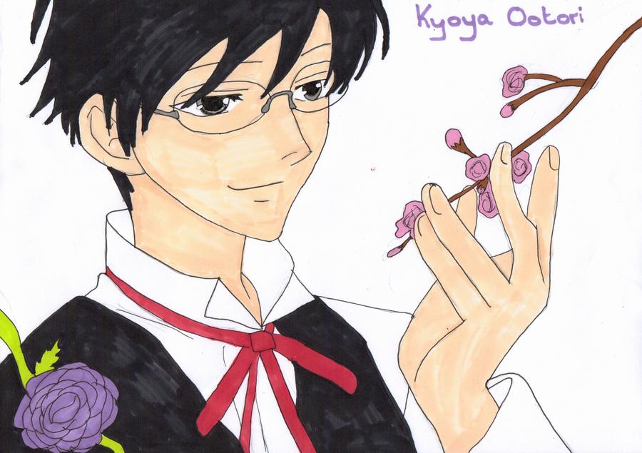 Kyoya Ootori by DragonprotectorRyuu