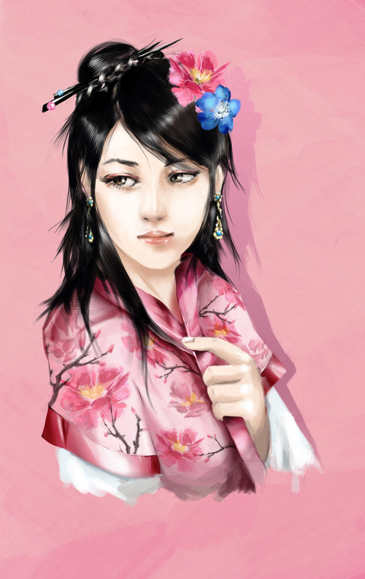 Quelques oeuvres. Chinese_woman_by_saelian-d7qs8t4