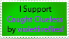 Support Caught Clueless Stamp