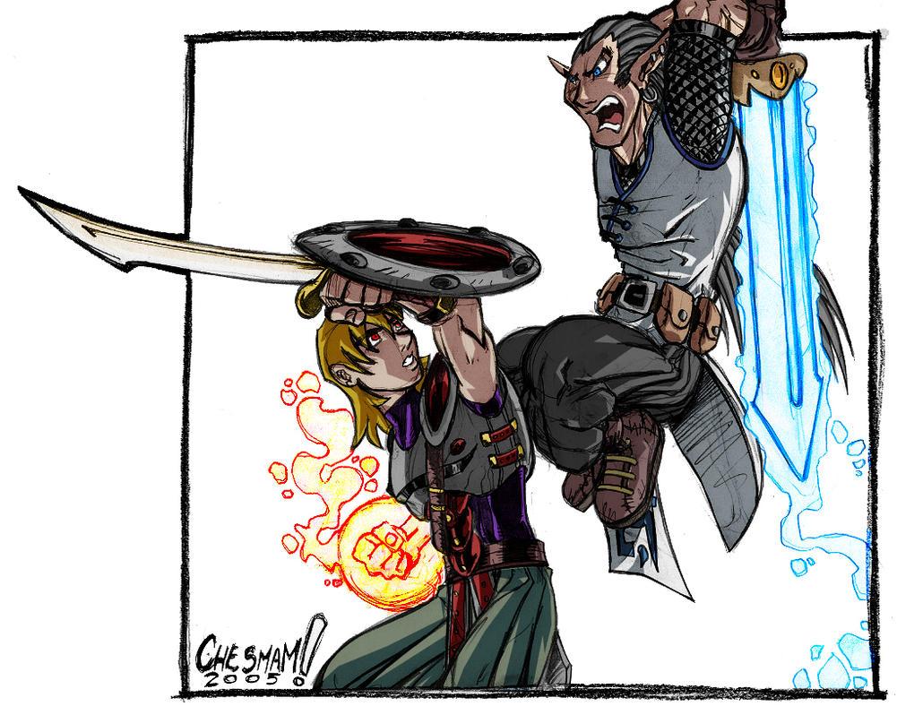 Eldritch Knight x SpellSword by thyagon