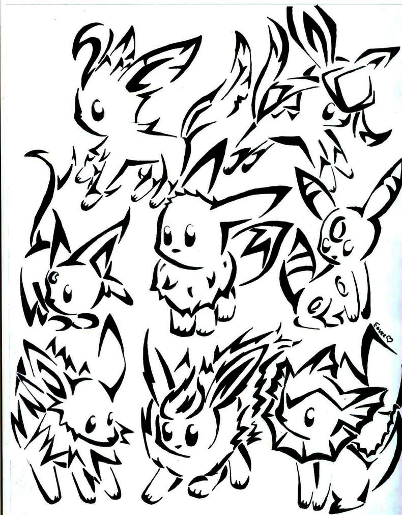 eeveelution coloring pages - photo #30