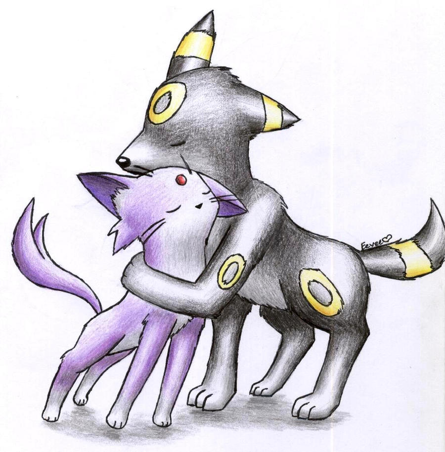 Pokemon coloring pages espeon - Shiny Umbreon Pokemon Coloring Pages Coloring Pages Search Espeon_and_umbreon_by_shinyeeveee