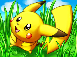 A wild pikachu appeared! by Togechu
