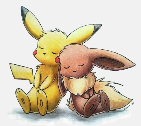 Eevee and Pikachu by Togechu on DeviantArt  Eevee and Pikac...