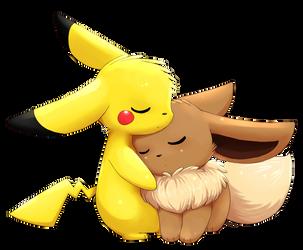 Eevee+Pikachu by Togechu