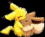 Eevee+Pikachu