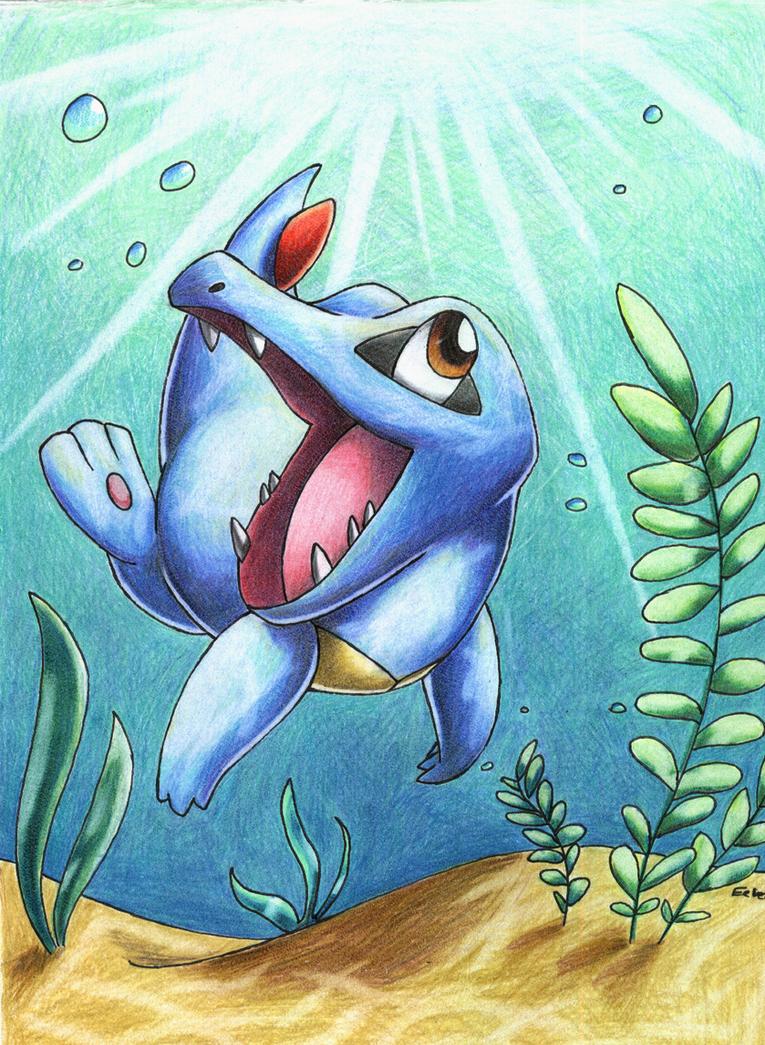 Pokemon totodile by redeyeswolfman on DeviantArt