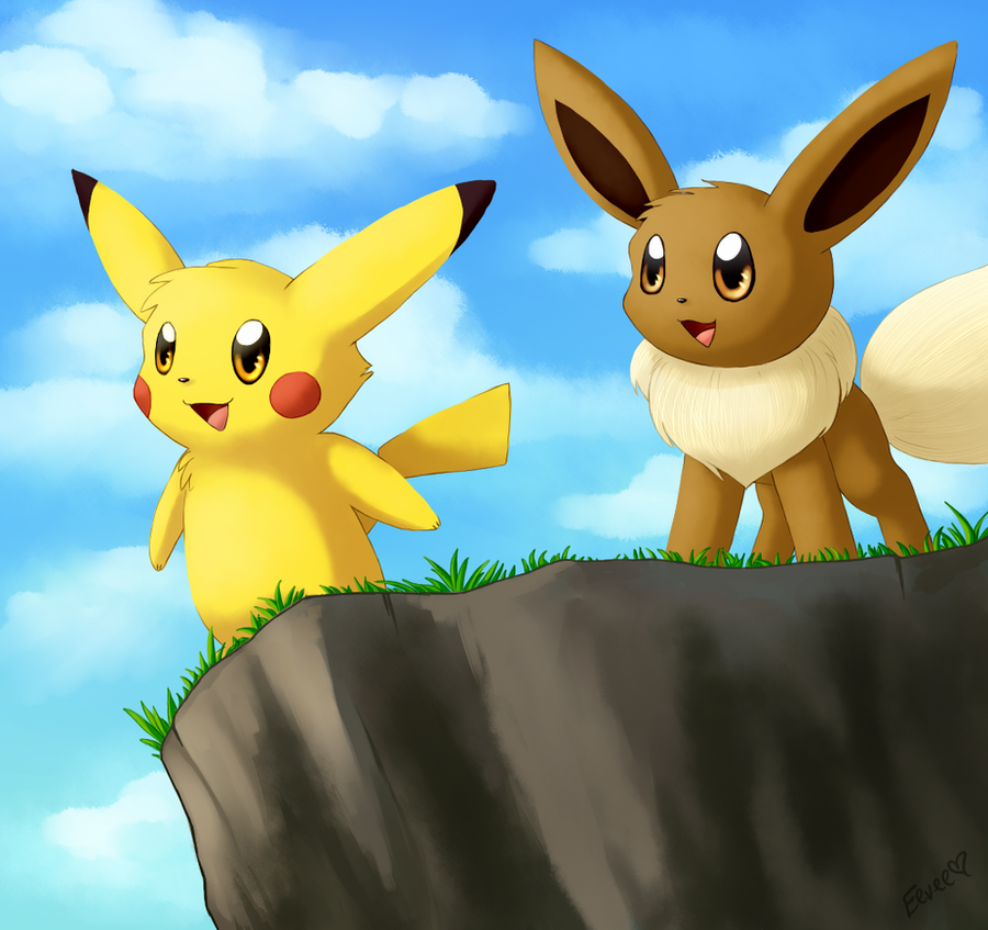 Eevee and Pika by Togechu on DeviantArt  Eevee and Pika ...