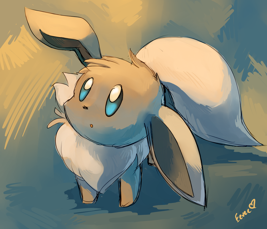 Eevee in Two Colors--Practice by Togechu