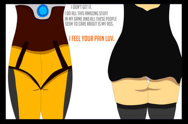 tracer And 2B: The Queens of Butt Controversy by amanwithnoplan