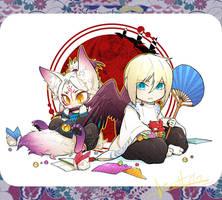 Tengu and Fox