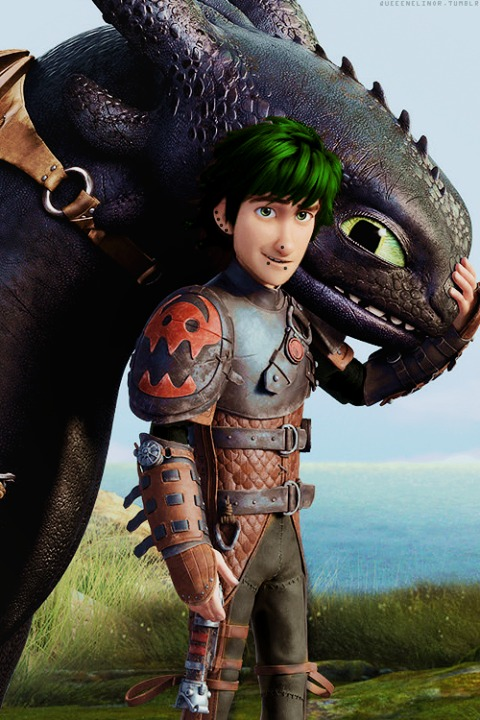 Punk Hiccup [With Toothless] by LinkGirl134