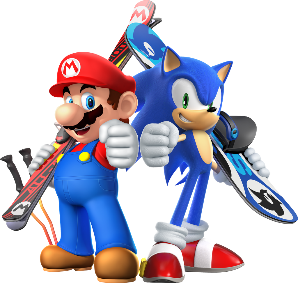 Mario and Sonic are ready for the winter games! by MarnicSteve92