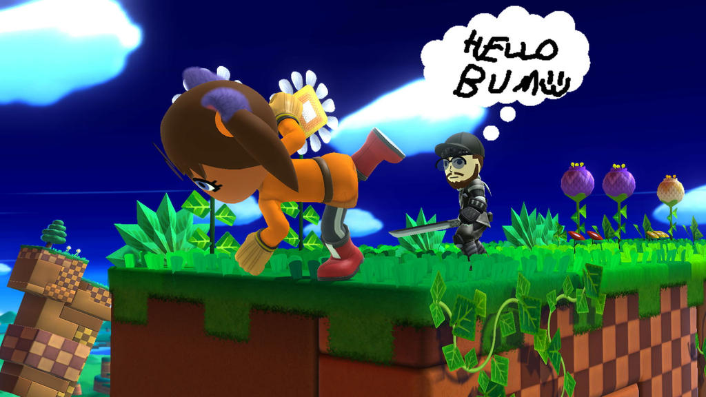 Super Smash Bros screenshot Sticks loosing balance by MarnicSteve92