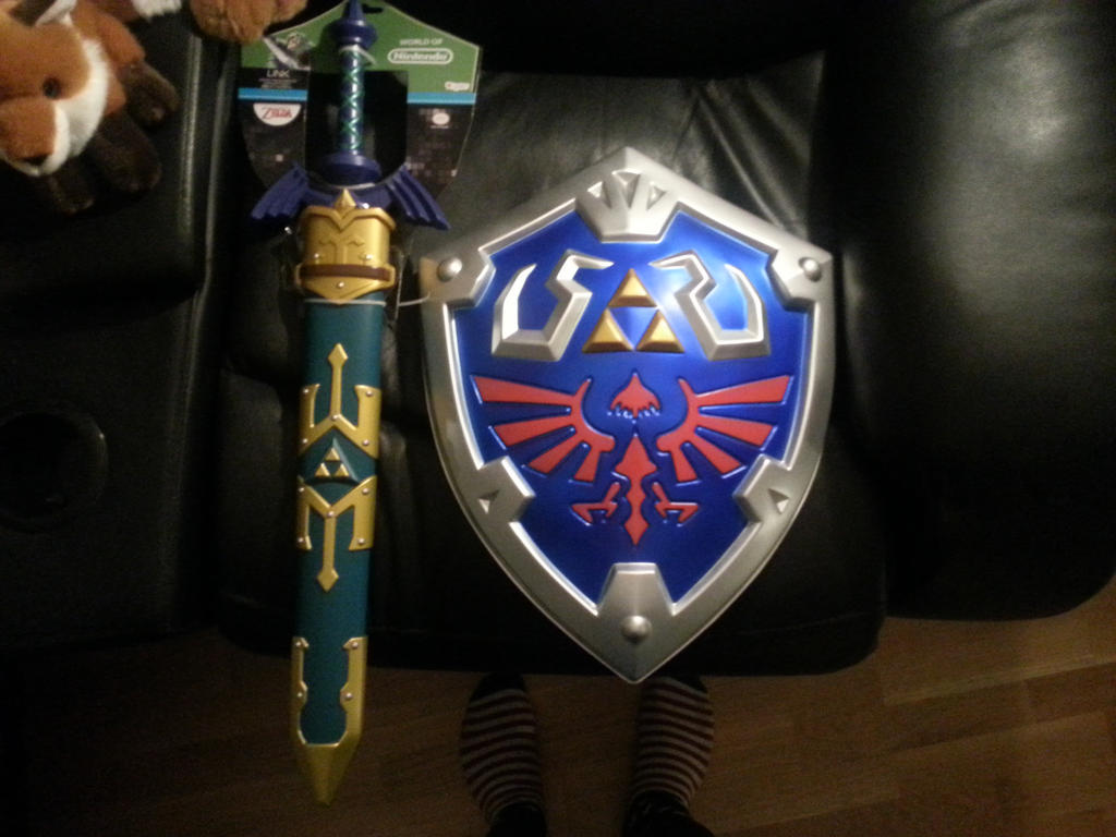 Master Sword and Hylian Shield Obtained! by MarnicSteve92