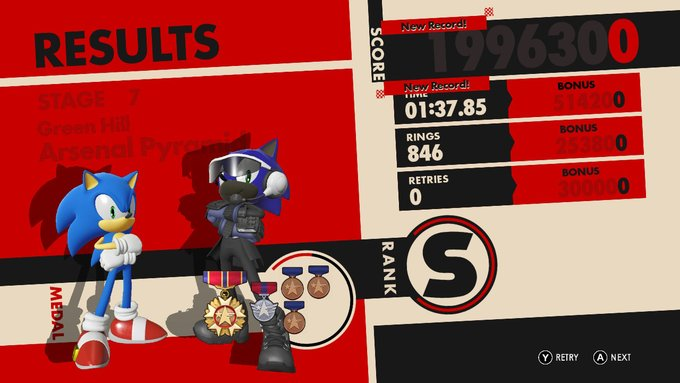 Sonic Forces screenshot 1 Sonic and Steve by MarnicSteve92
